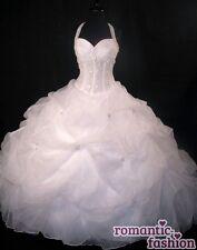 ♥ al cuello vestido de novia, vestido de bodas como sabe, hecha a medida o crema +pl0450 ♥