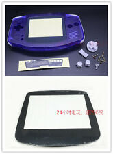 Transparent Housing Shell Case+Glass Lens Set for Nintendo Gameboy Advance GBA
