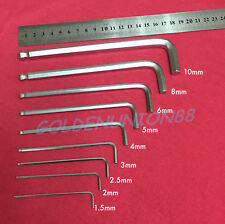 9pcs Metric Allen hex key wrenches L-shaped hexagon Long arm ball end 1.5mm~10mm
