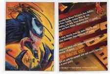 1X 1995 Fleer Ultra VENOM Promo SAMPLE Prototype AMAZING SPIDER MAN Golden Web