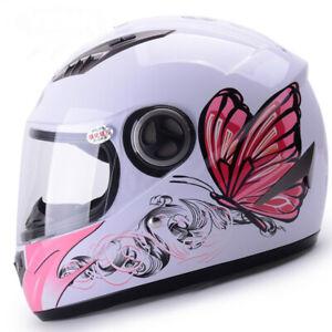 Female Full Face Helmet Motorcycle Kask casco de moto Pink helmet for women