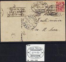 Estland Karte - Bahnpost -  Valk - Tallinn - Postvagun - 6.7.23 (3711)