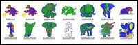 14 Elephant Files Embroidery Digitized Stitches Design to Run Machine