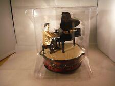 "New Rare Enesco Style Moving Elvis On Piano ""Love Me Tender"" Music Box Nib"
