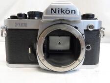 Nikon FM2 35mm SLR Film Camera Silver Body Made in Japan (O10168-1 C2)