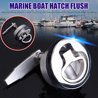 Stainless Steel Marine Boat Hatch Flush Mounted Pull Latch Handle NON Locking R