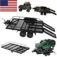 Trailer Car Heavy-Duty Trailer Cargo Carrier Metal Kit for 1/10 RC Car DIY E1O2