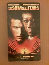 Morgan Freeman VHS MOVIE THE SUM OF ALL FEARS. Paramount 2002 PG-13