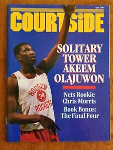 1989 Courtside Akeem OLAJUWON NBA Magazine