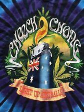 size large Cheech and Chong Light Up Australia Tie Dye T-shirt! Free ship!!
