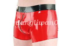 100% Látex de borracha Roupa Íntima Masculina Boxer Shorts bonito com zíper tamanho pequeno-extra extra grande