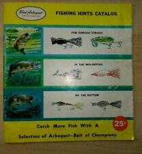 Baits of Champions Catalog by Fred Arbogast Company of Ohio 1960s RARE Vintage