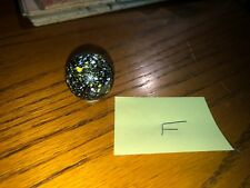 Lot Shooter Marble, Black Speckled White Yellow Looks Like Paint Exceptional (F)