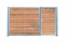 Einfahrtstor Verzinkt Garten Holz-Tor querAsymmetrisch 2-Flügeltor 400cmx180cm