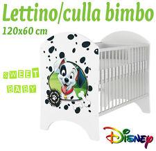 LETTINO CULLA BIMBO 120X60 CM!COLLEZIONE DISNEY2016 CARICA DEI 101
