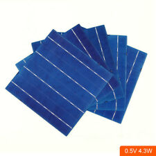 100pcs Solar Panel 6x6 Inch High Efficiency Photovoltaic Cells 156x156mm 4.3W