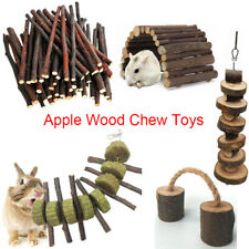 Apple Wood Chew Sticks Twigs Grass Hay Chew Toy Rabbit Hamster Guinea Pig Parrot