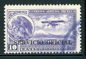 MEXICO Used Air Post Selections: Scott #CO20 10c Violet PERF 12 CV$25+
