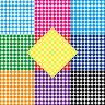 1000 Punti Colla 8mm Autoadesivo Adesivo PVC Pellicola Etichette Inventario