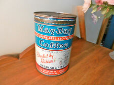 MAY DAY 2 LB MILLAR'S COFFEE TIN CHICAGO DENVER Regular Grind