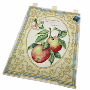 An Apple A Day Tapestry Wall Hanging w/Verse Taste and See That The Lord is Good