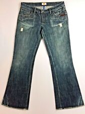Antik Denim Women's Jeans Size 32 Boot Cut Embroidered Chenille Pockets 37 X 32