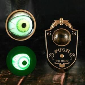 Animated one eye Haunted House Eyeball Doorbell Halloween Decor Spooky Prop