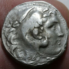 ANCIENT GREEK COIN SILVER TETRADRACHM ALEXANDER THE GREAT 336-322 BC