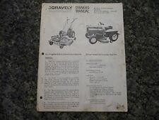 GRAVELY 21296-40 21297-50 OWNER'S MANUAL