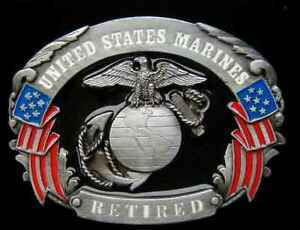 UNITED STATES MARINES RETIRED BELT BUCKLE BUCKLES