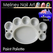 Paint Palette Mixing Plate Nail Art Tools Manicure Artist Painting Plastic Tray
