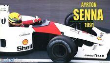 Fujimi 1/20 Model Formula One Kit McLaren Honda MP4/6 A.Senna w/Driver Figure
