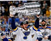 Alexander Steen Blues 2019 Stanley Cup Champs Signed 8 x 10 Raising Cup Photo