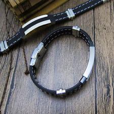 Bracelet en acier inoxydable tempérament inimitable cool spécial mode hommes