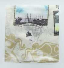 Port of Los Angeles Silk Scarf with Antique Post Card Images, New