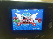 Sega Nomad New LCD,Capacitors, Glass Protector and FREE GAME  Plays SMS+JAPAN
