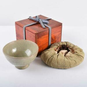 Tea utensils Goryeo porcelain bowl with Fukusa and period box MR2742