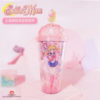 Sailor Moon Tsukino Usagi Plastic Water Cup Double Layer Sequin Star Magic Wand