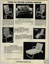 1955 PAPER AD Logan All Metal Outdoor Patio Furniture Glider Chair