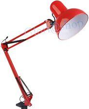 LAMPADA DA SCRIVANIA LUCE ORIENTABILE E27 BRACCIO PIEGHEVOLE SNODABILE X TAVOLO