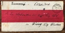 CHINA OLD COVER TSINGTAU TO GERMANY 1901 !!