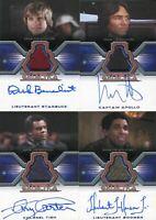Battlestar Galactica Colonial Warriors Autograph Costume Card Set
