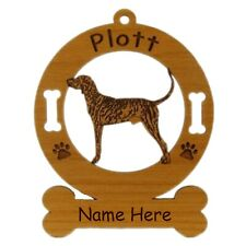 Plott Hound Standing Dog Ornament Personalized With Your Dogs Name 3711