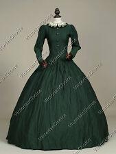 Victorian Dark Queen Dress Theater Steampunk Witch Halloween Costumes N 316 M