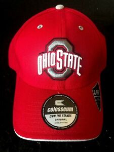 Ohio State Buckeyes Stretch Fitted Cap Size L/XL by Colosseum New w. Tags