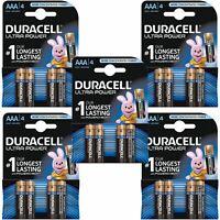 20 x Duracell Ultra Power AAA Type Alkaline Batteries Duralock, LR03 MX2400 1.5v