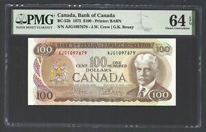 Canada 100 Dollars 1975 BC-52a Uncirculated Grade 64