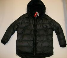 NIKE Black UPTOWN 550 DOWN INSULATED Hooded JACKET Coat Womens Sz LARGE $320 NEW