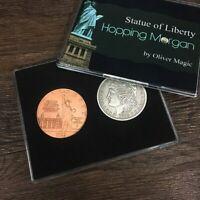 Hopping Morgan (Statue of Liberty) by Oliver Magic Coin Magic Tricks Gimmick Fun