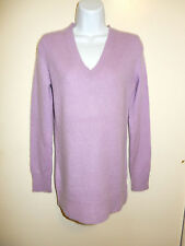 GAP 100% CASHMERE VERY SOFT BABY PURPLE V-NECK LONG SLEEVES LONG SWEATER S
